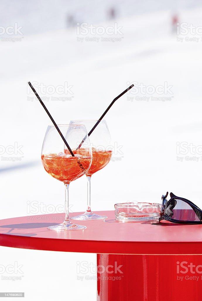 Apres Ski cocktail royalty-free stock photo
