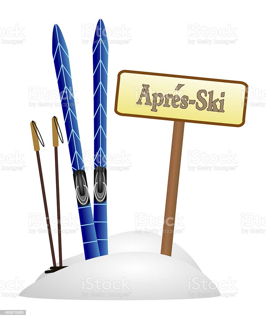 apres ski party stock photo