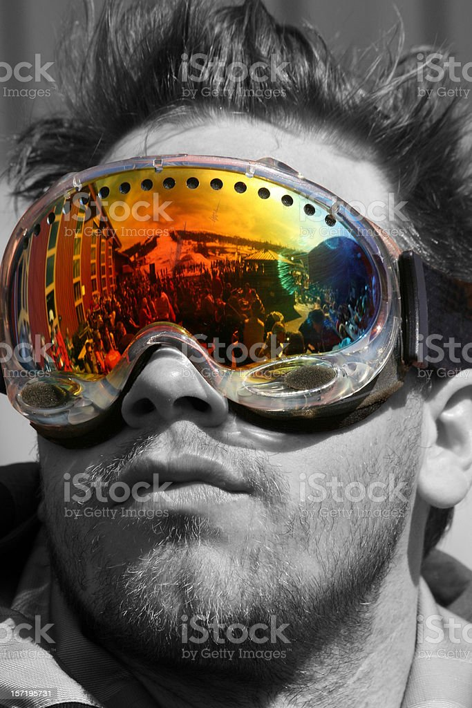 After ski stock photo
