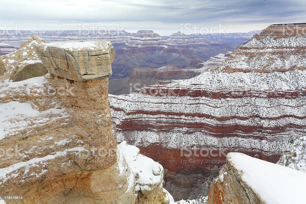 After Snow Storm, Grand Canyon, AZ royalty-free stock photo