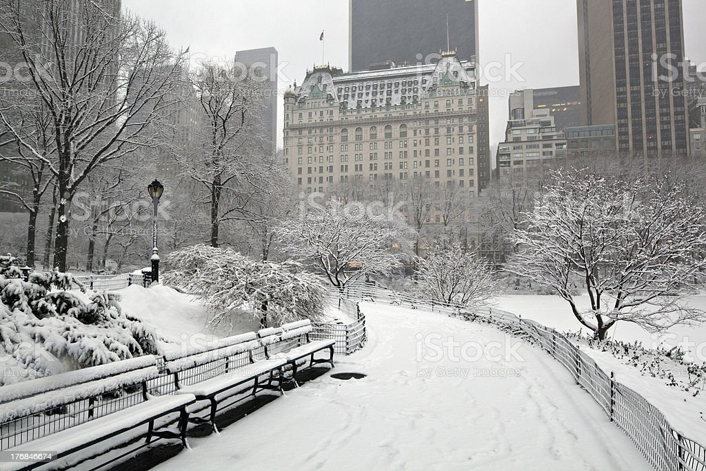After snow storm in New York City stock photo