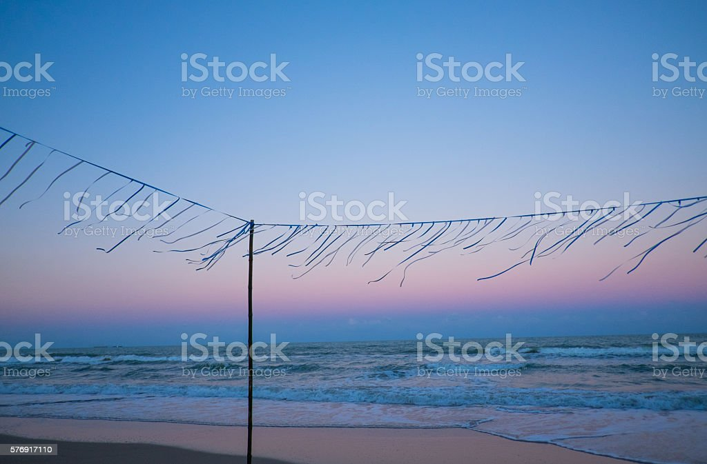 after sunset and before party. stock photo