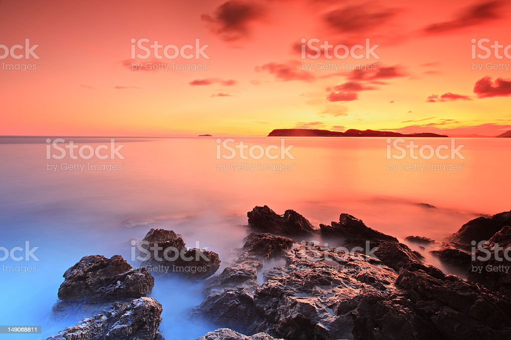 After sunset, Dubrovnik, Croatia royalty-free stock photo