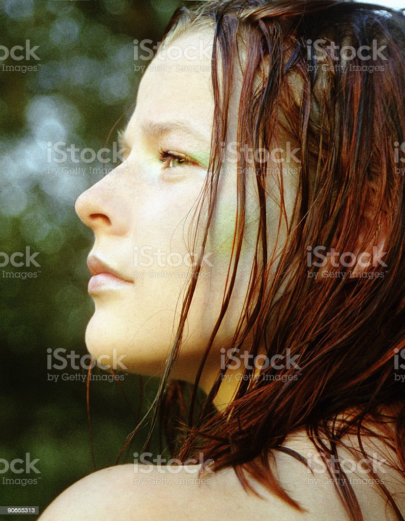After swimming royalty-free stock photo