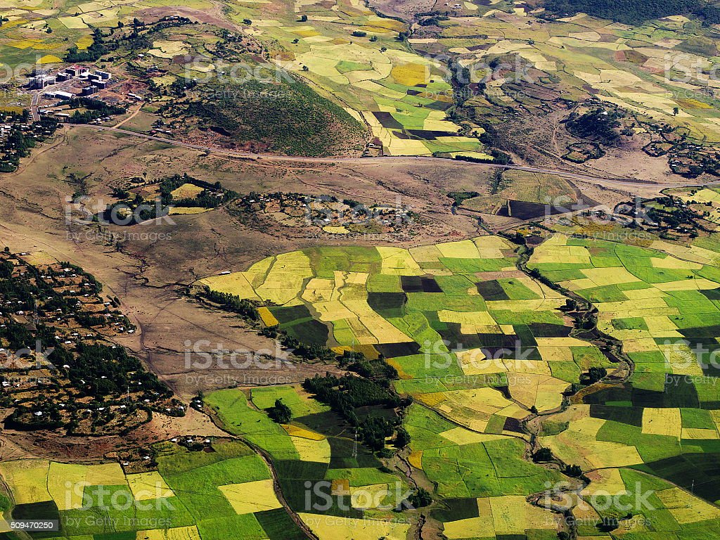 After take-off from Gondar stock photo