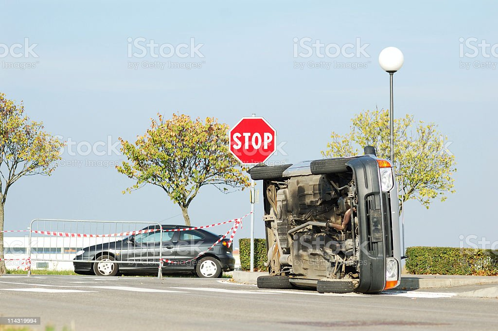 After the accident royalty-free stock photo