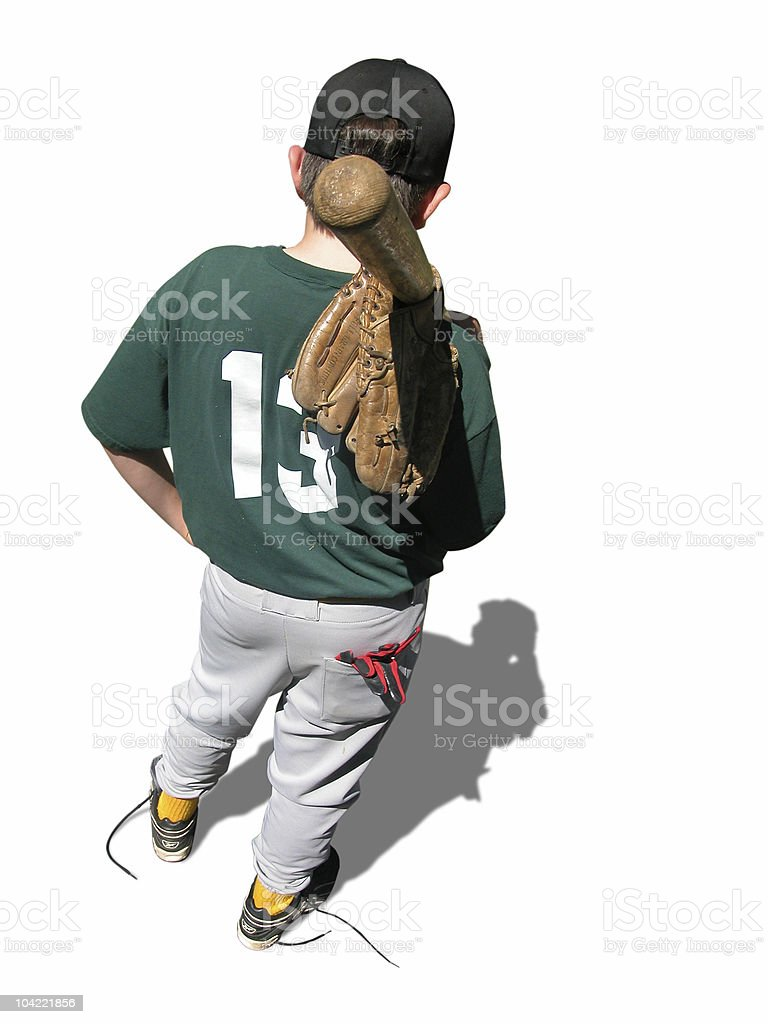 After The Ball Game royalty-free stock photo