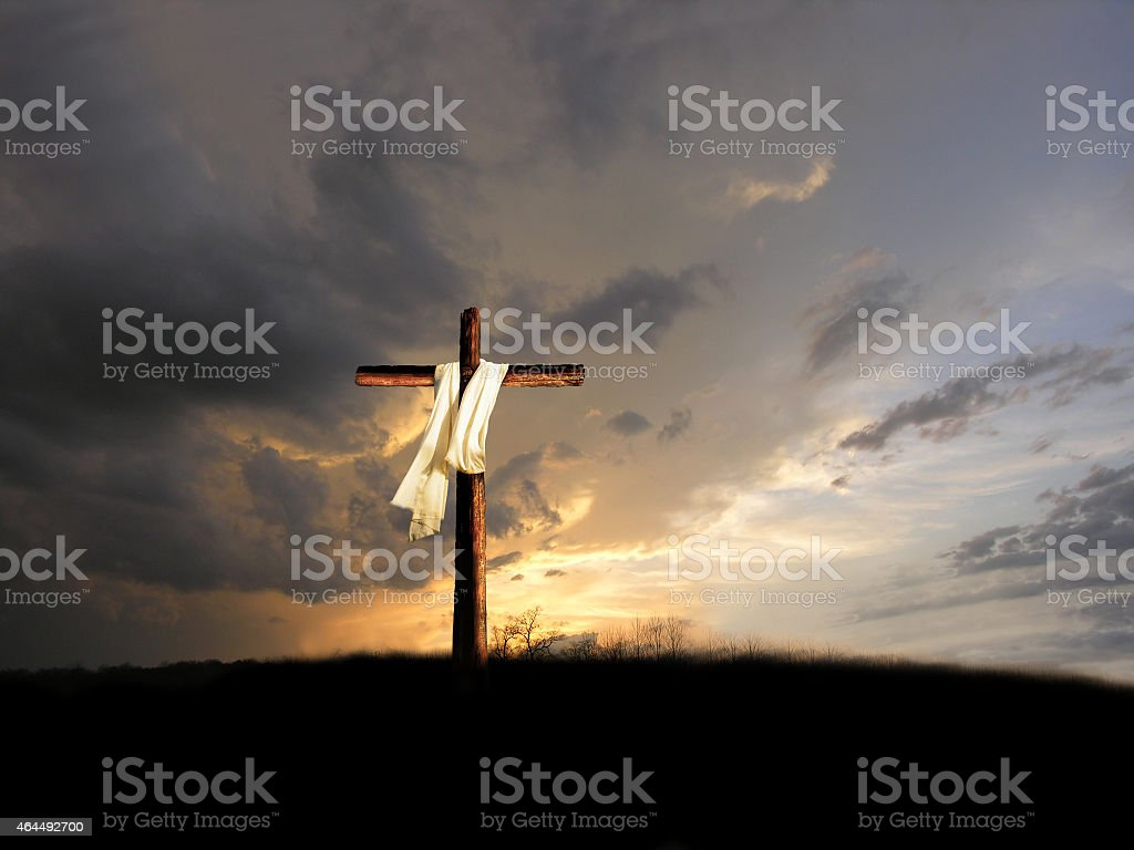 After The Crucifixion stock photo