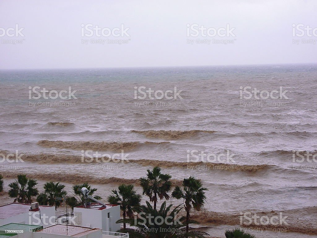 After the dam collapsed royalty-free stock photo