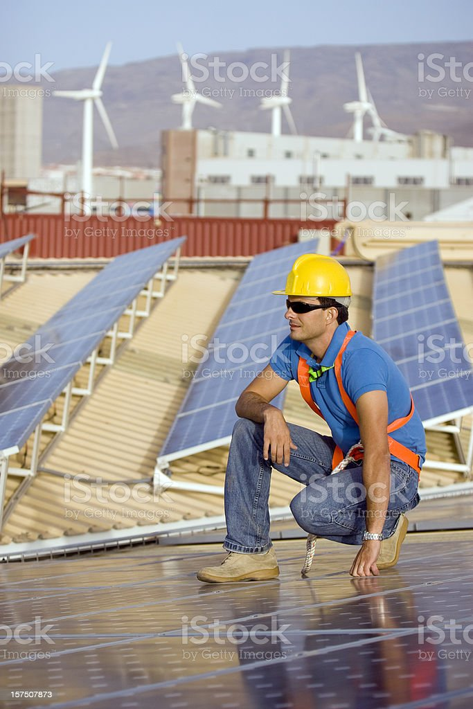 After the installation royalty-free stock photo