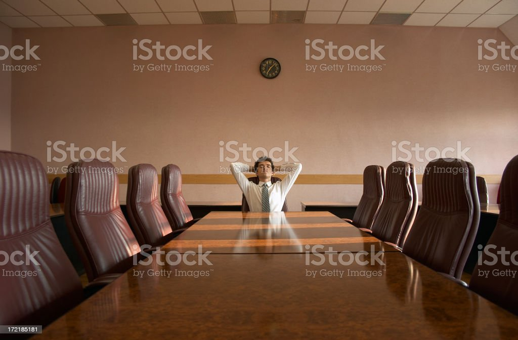 After the meeting royalty-free stock photo