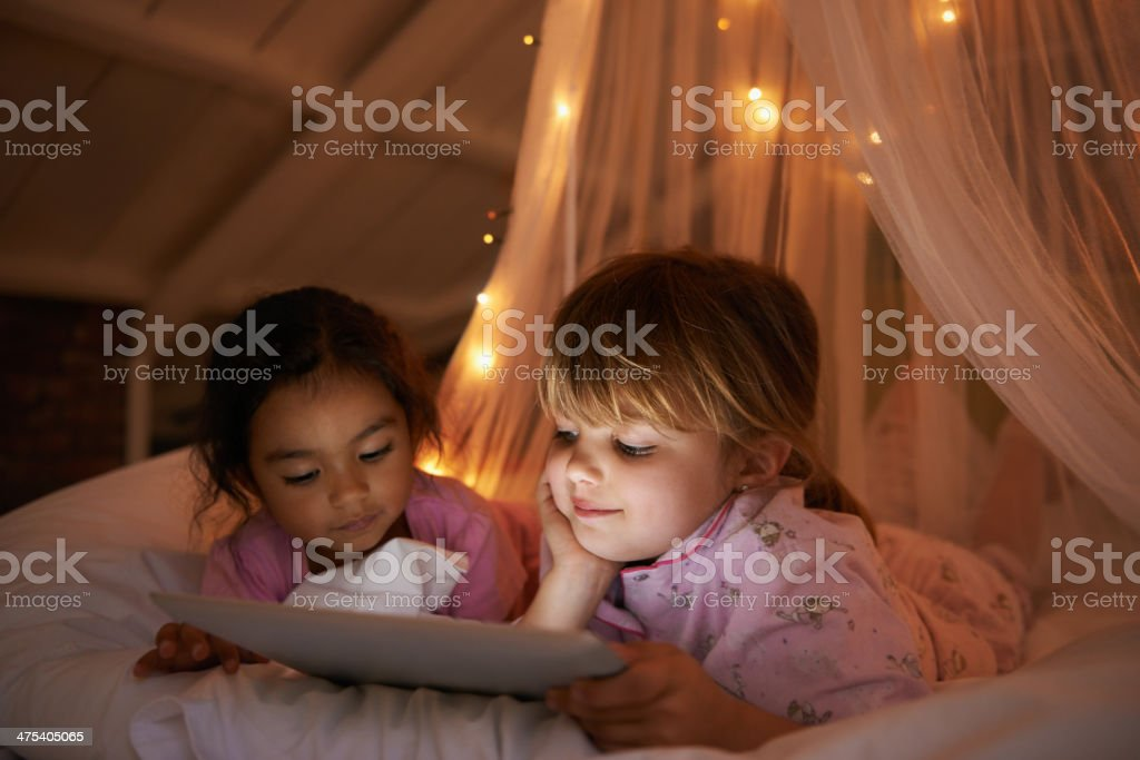 After the parents go to bed... stock photo
