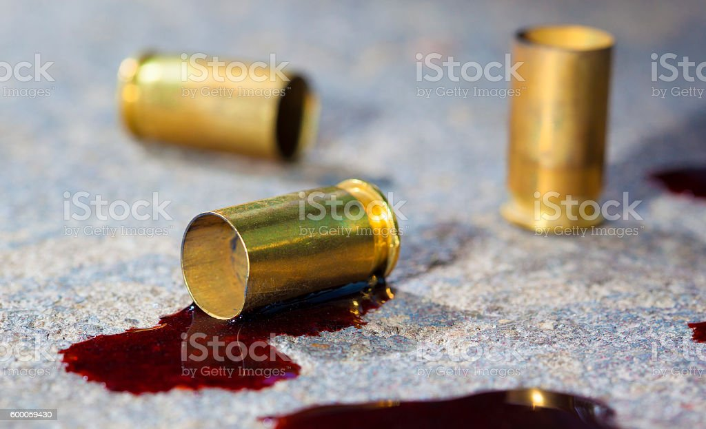 After the shooting stock photo