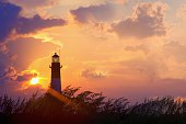 After the Storm: Lighthouse at Sunset