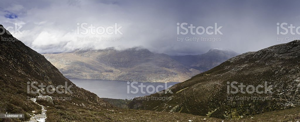 After the storm Scottish Highland trail stock photo