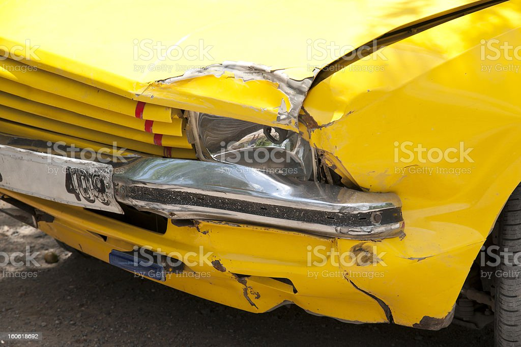 after traffic accident royalty-free stock photo