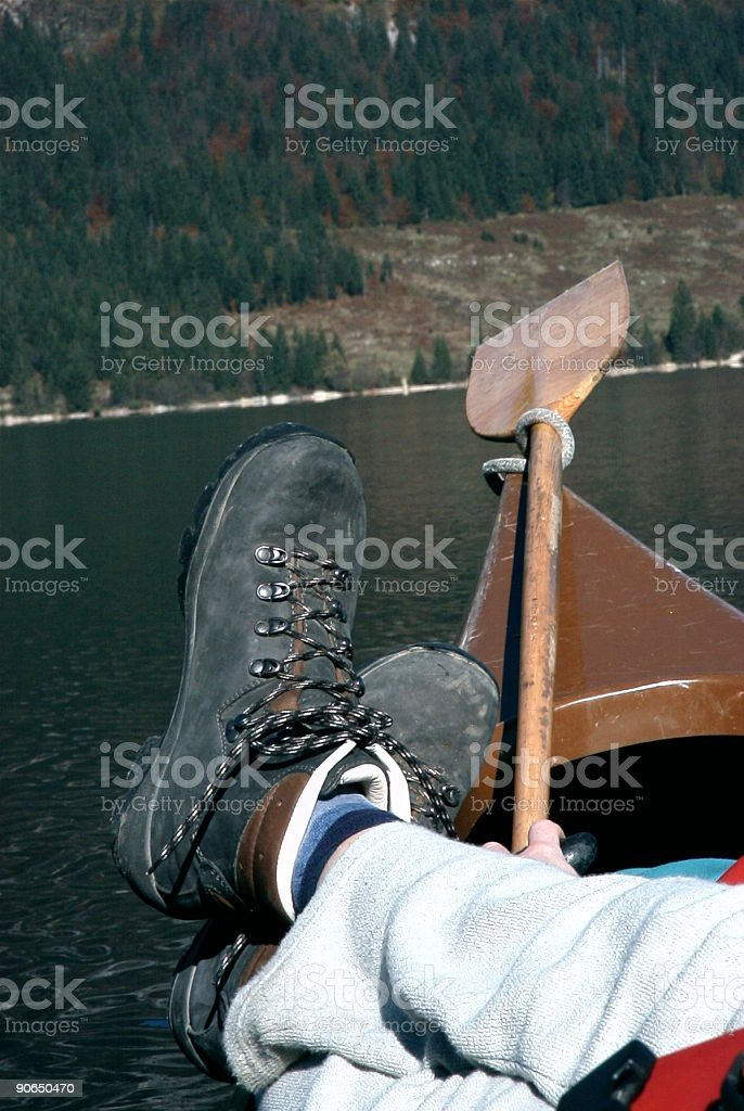 After trekking royalty-free stock photo