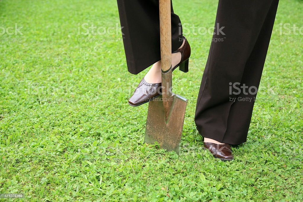 After work gardening recreation stock photo