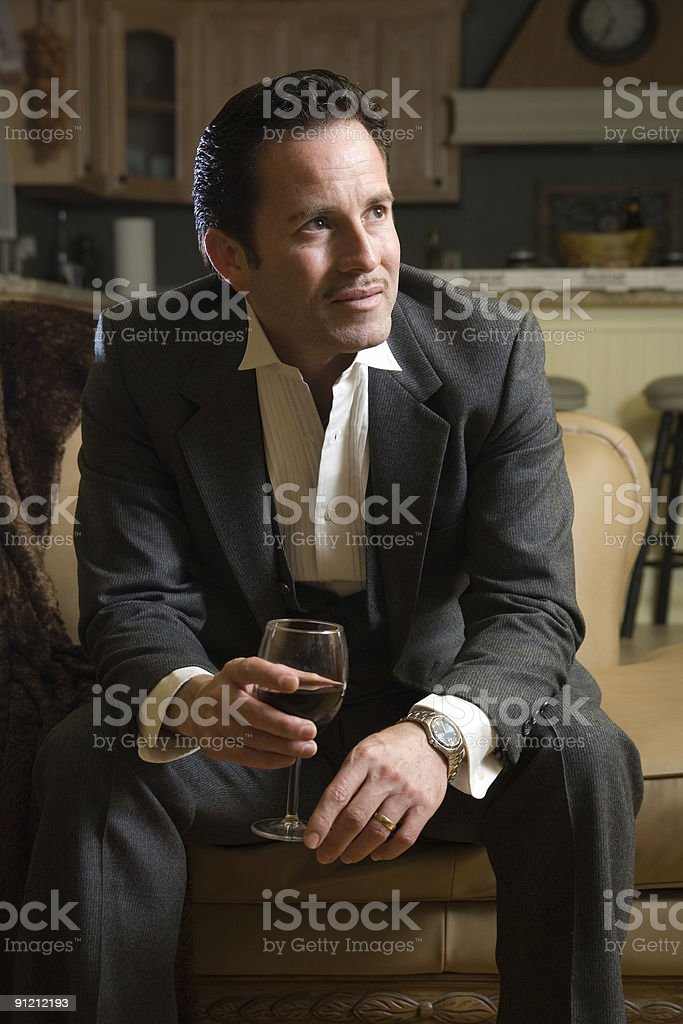 After work glass of wine royalty-free stock photo