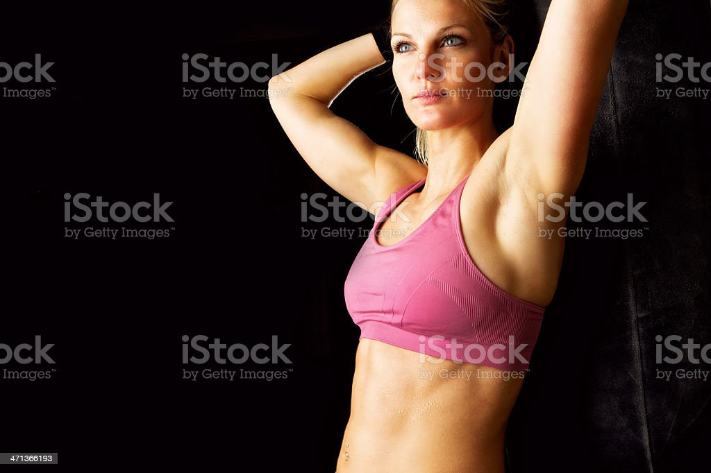 After Workout Portrait stock photo