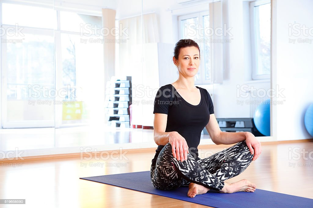 After yoga stock photo