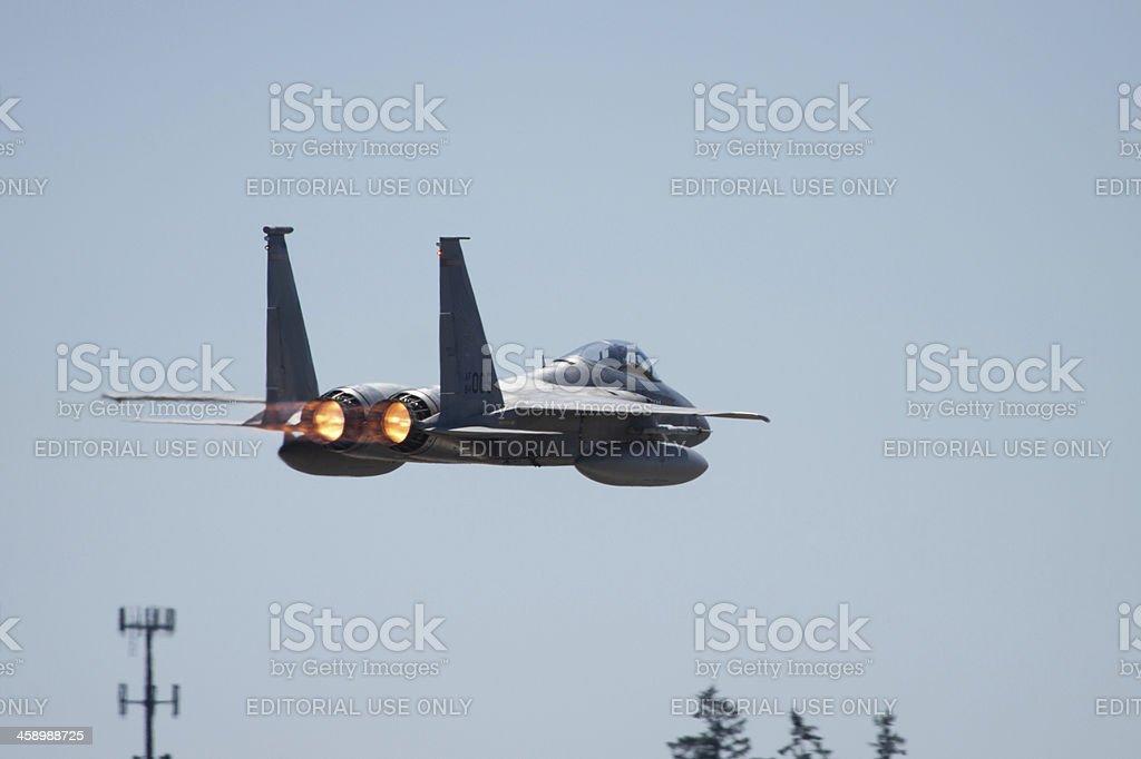 F-15 Afterburner stock photo