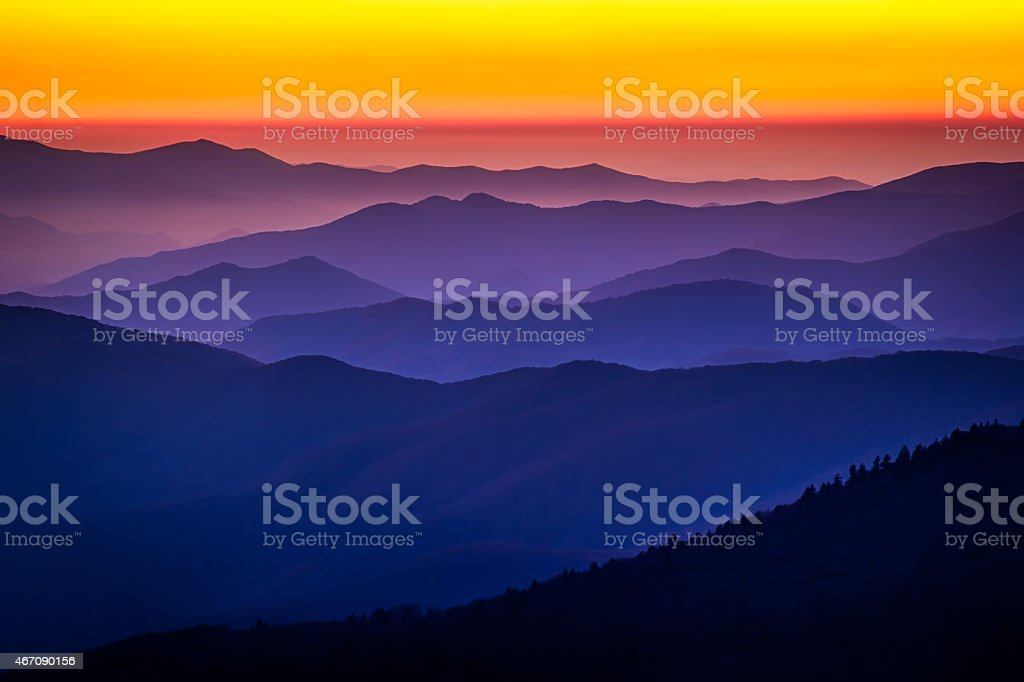Afterglow at Clingman's Dome stock photo