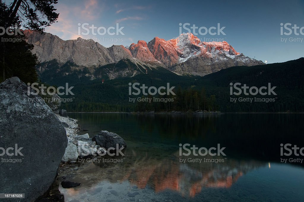 afterglow stock photo
