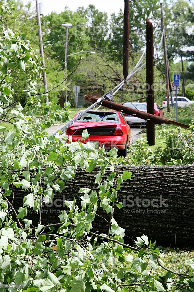 Aftermath of a tornado stock photo