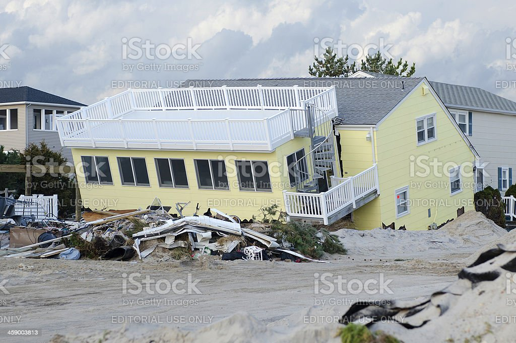 Aftermath of Super Storm Sandy stock photo