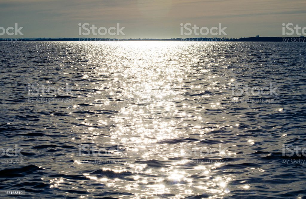 Afternoon at a lake stock photo