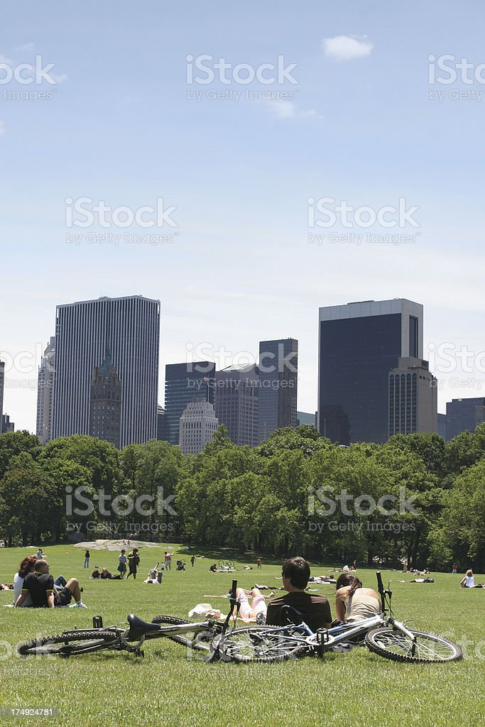 Afternoon at central park, new york city stock photo