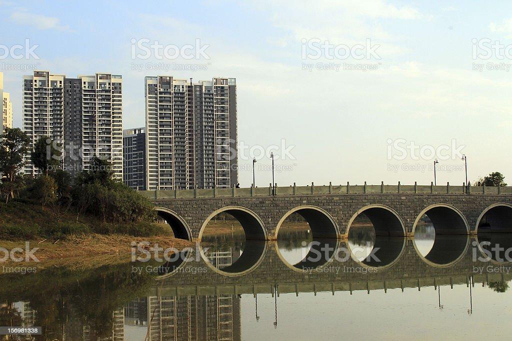 Pomeriggio di Ganzhou Central Park, Cina foto stock royalty-free