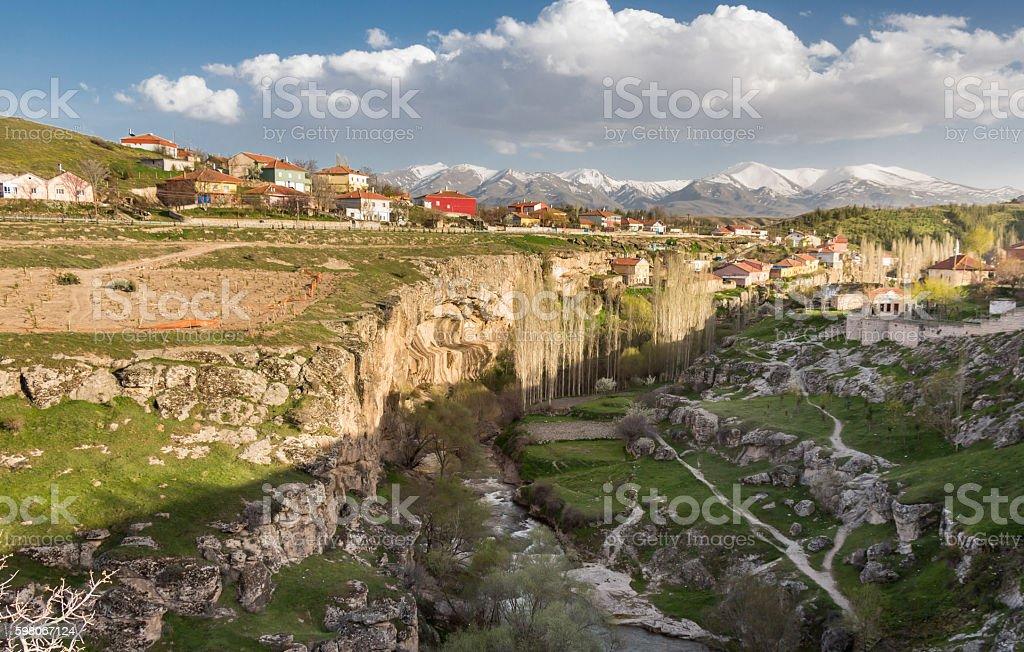 Afternoon at Ihlara Valley, Turkey stock photo