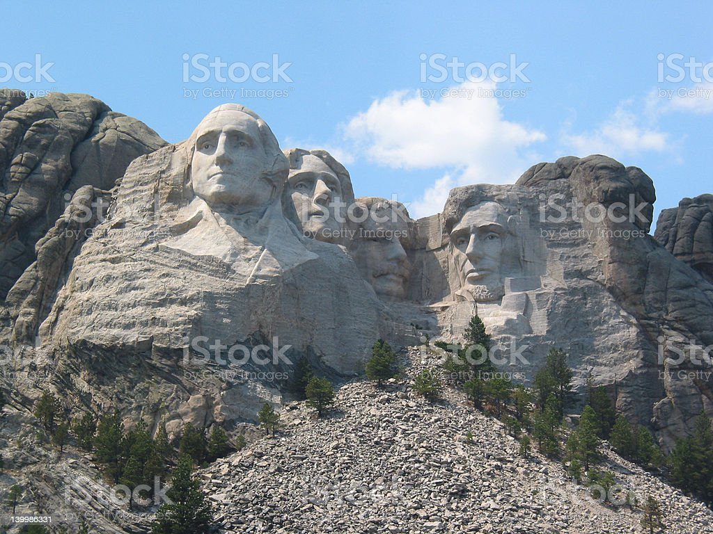 Afternoon at Mount Rushmore royalty-free stock photo