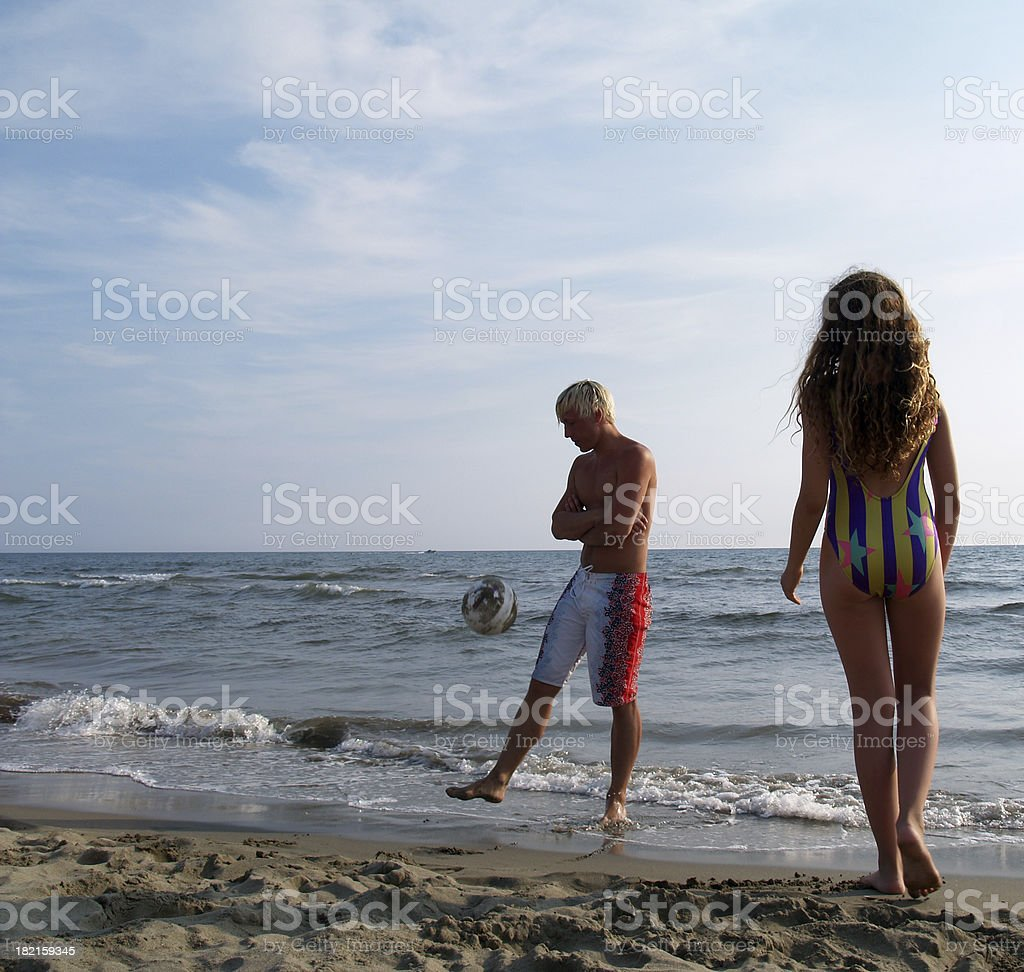 Afternoon at the beach. royalty-free stock photo
