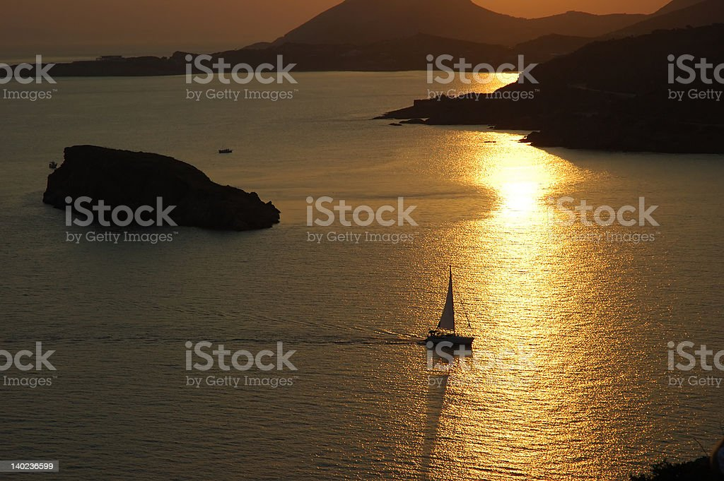 Afternoon at the sea royalty-free stock photo