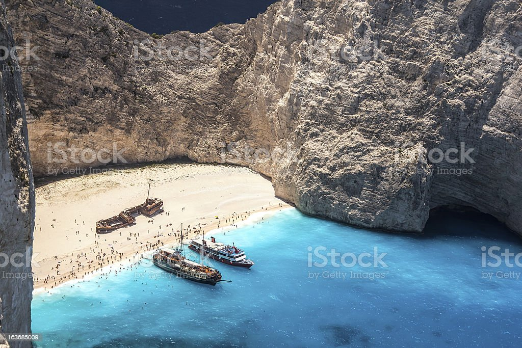 Afternoon at the ship wreck beach royalty-free stock photo