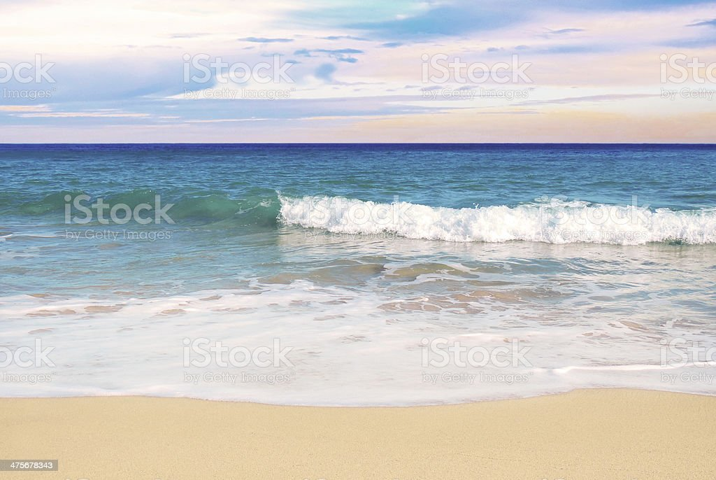 Afternoon beach stock photo