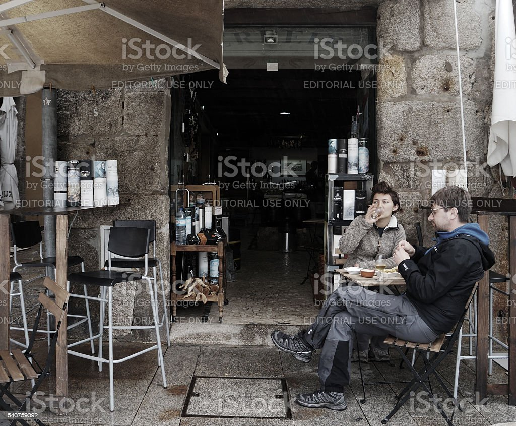 Afternoon beer, Porto stock photo