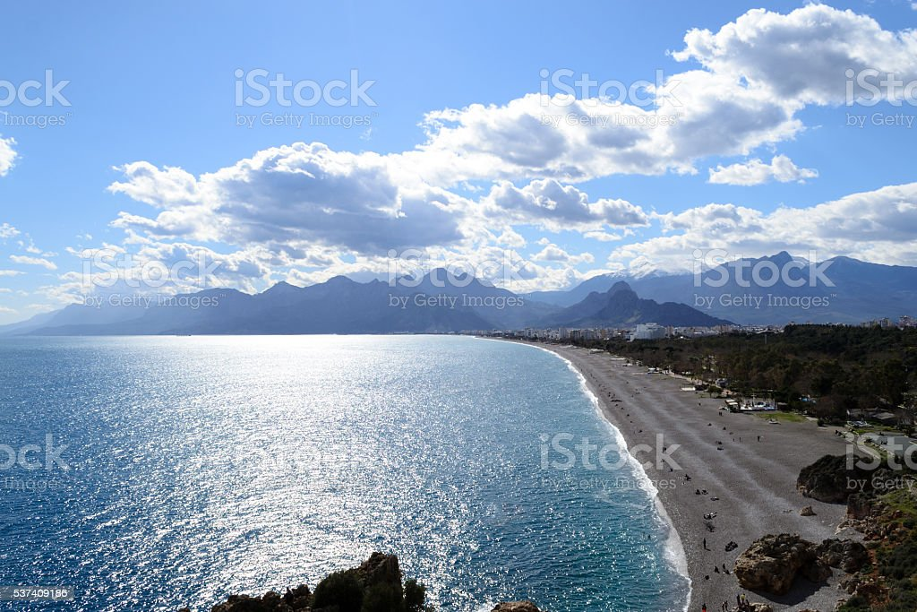 Afternoon by the Mediterranean stock photo