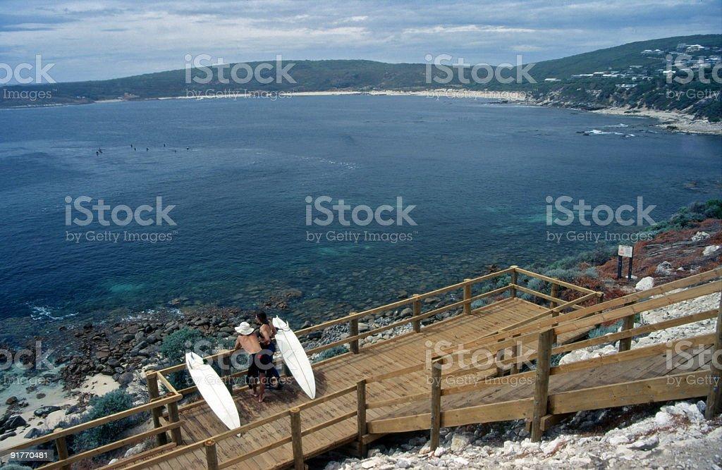 Afternoon Coastline Scene stock photo