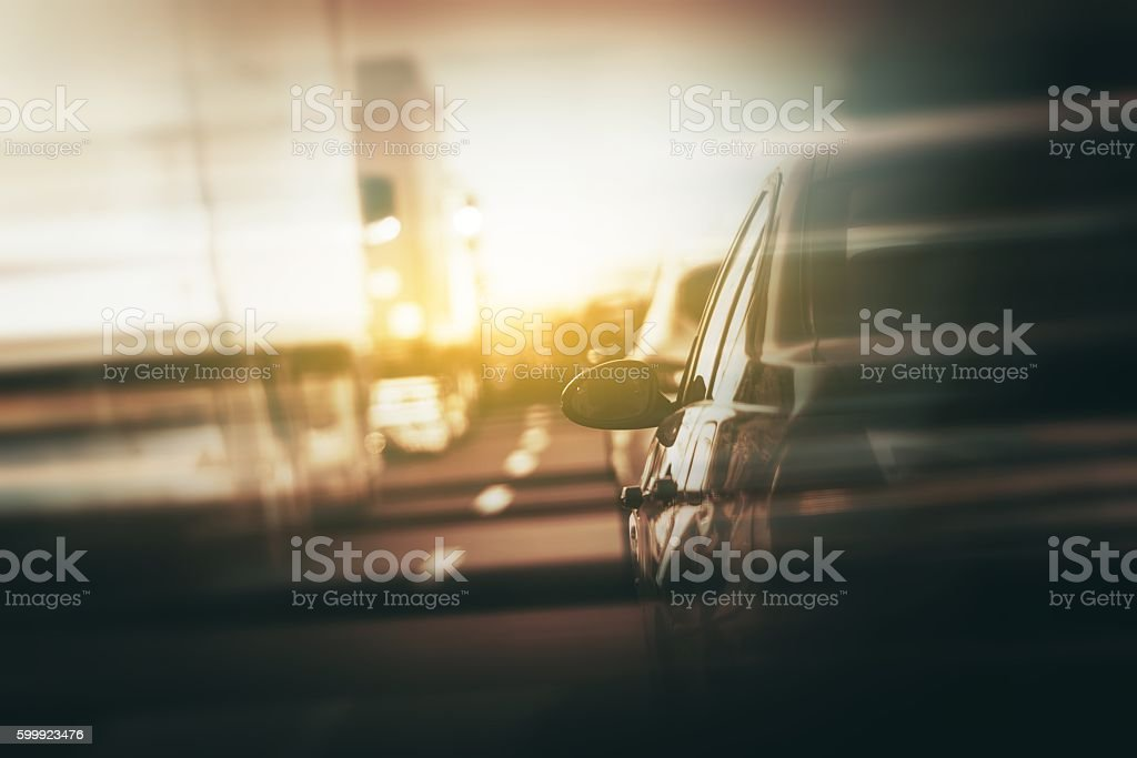 Afternoon Commute Traffic stock photo