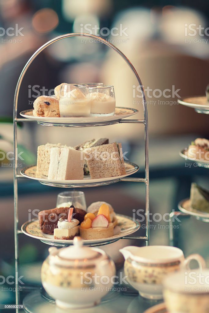 Afternoon delicacies stock photo