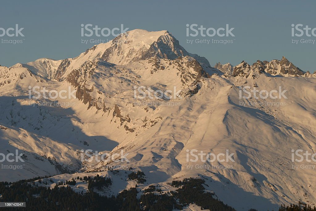 Afternoon glow on Mont Blanc royalty-free stock photo