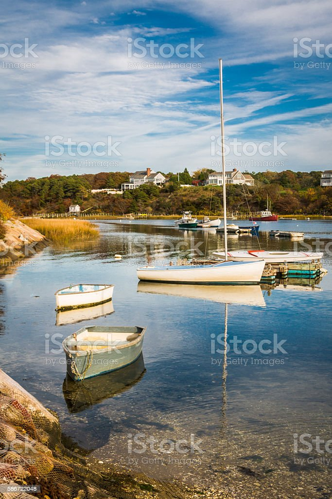 Afternoon Harbor Reflections stock photo