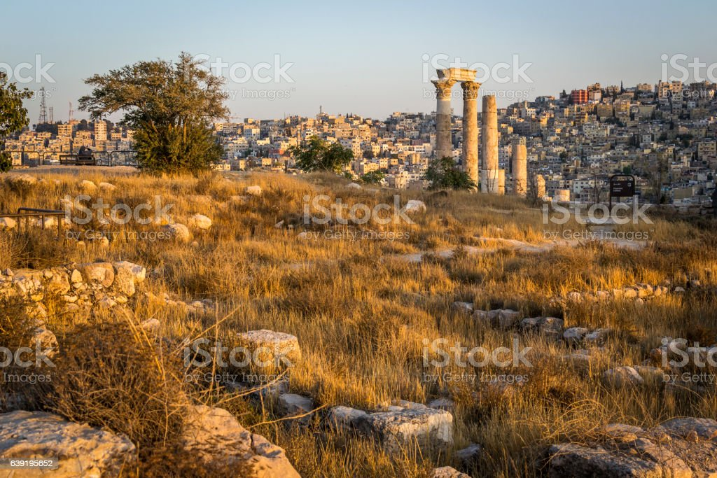 Afternoon in Amman stock photo