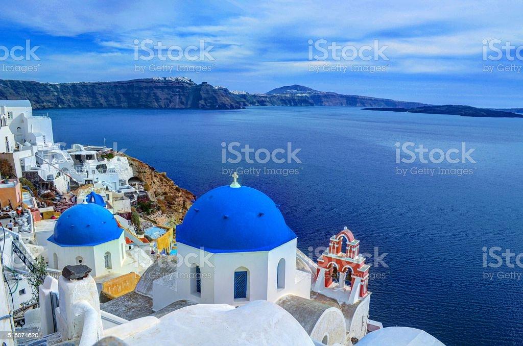 Afternoon in Santorini, Greece stock photo