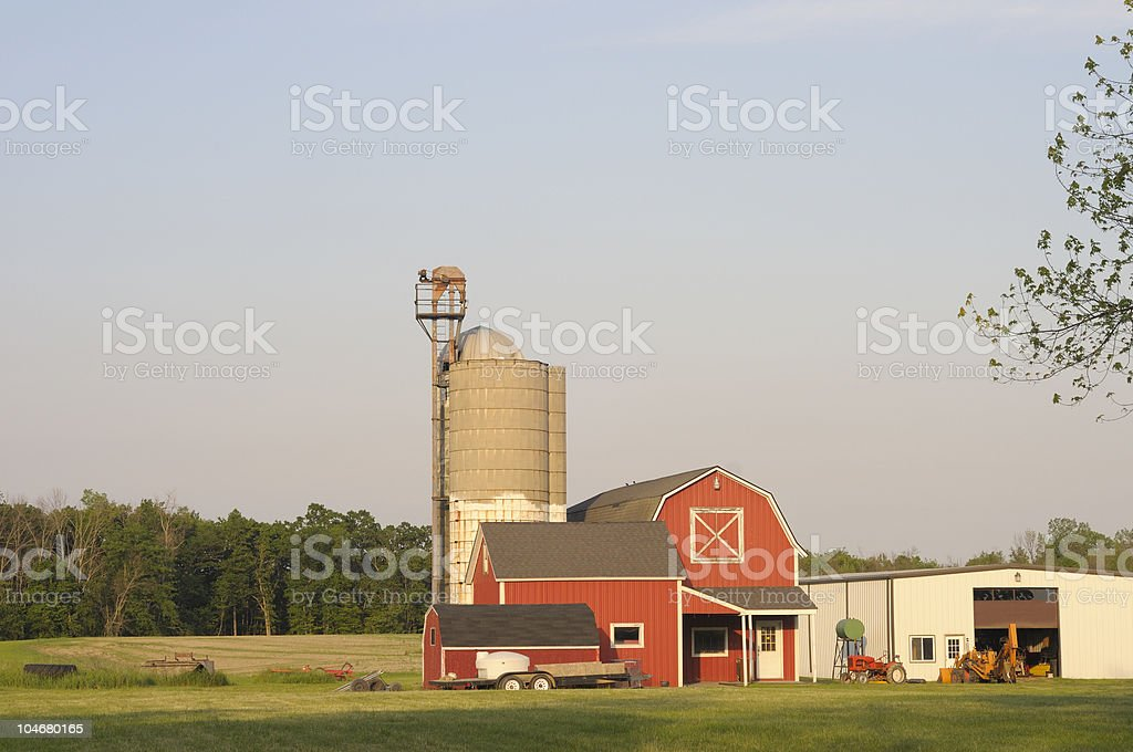 Afternoon Midwestern Farm royalty-free stock photo