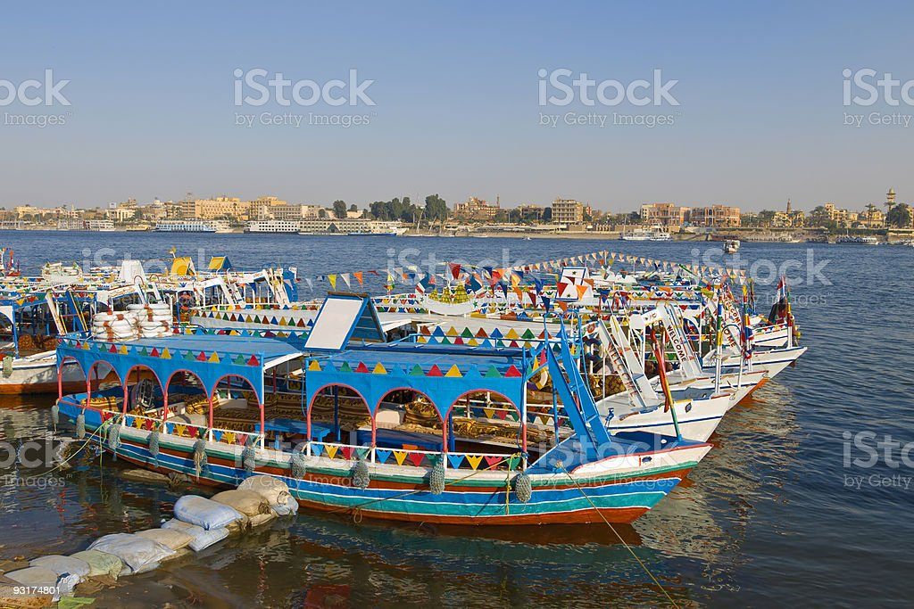 Afternoon on the Nile stock photo
